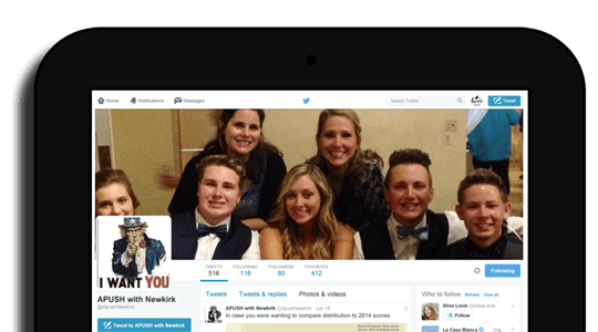 Sommer Newkirk's APUSH Twitter feed.